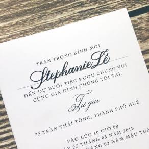 Viết thiệp cưới